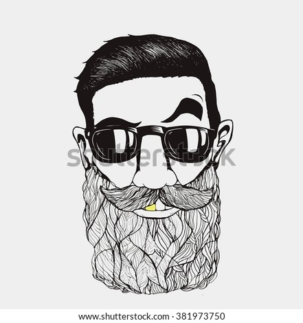 Royalty-free Vintage hand-drawing pattern Hipster ...