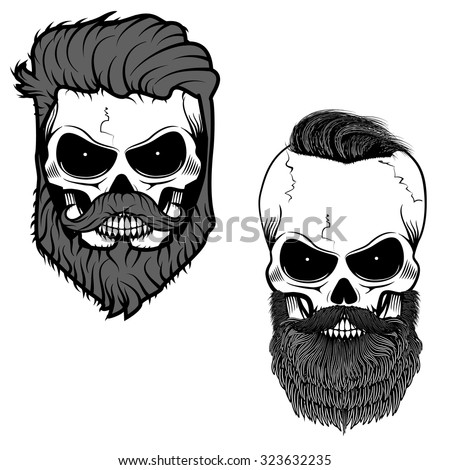 bearded skull sugar skull with