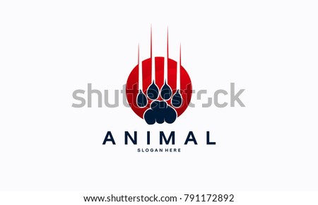 Beast Animal Paw Iconic Logo designs concept