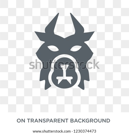 beast icon. Trendy flat vector beast icon on transparent background from Fairy Tale collection. High quality filled beast symbol use for web and mobile