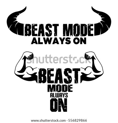 beast mode on vector graphic