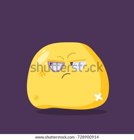 beaten emoji character vector
