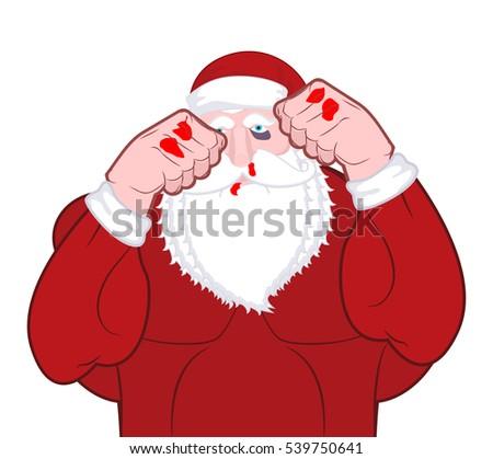 beaten santa claus fighter