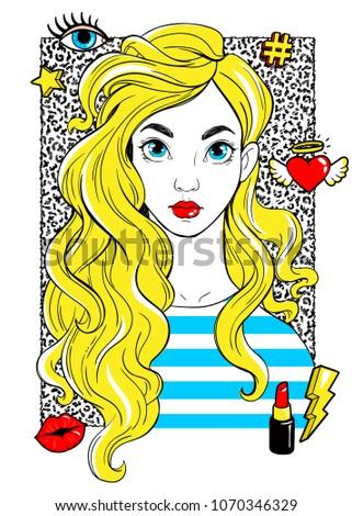 beatiful girl with fashion