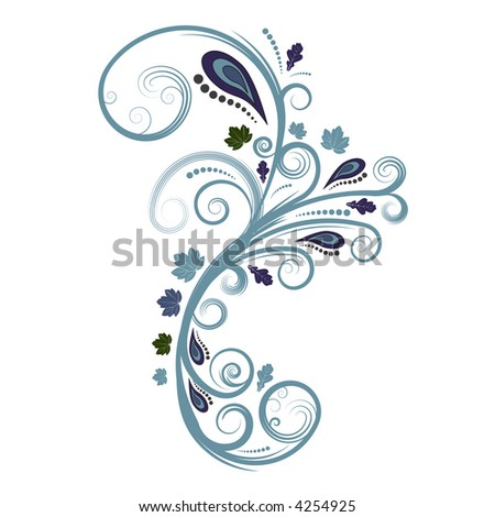 beautiful abstract autumn vector floral design