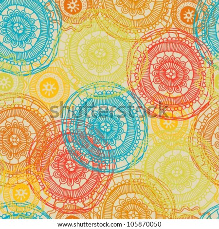 Beautiful abstract colorful seamless vector pattern