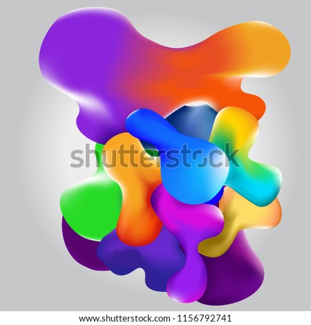 Beautiful abstract 3d background. Liquid colorful bubbles. Vector design background EPS10 #1156792741