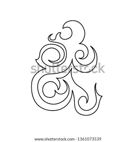 Beautiful abstract graphic element. Great  element for tatoo and pattern design.