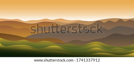beautiful abstract landscape