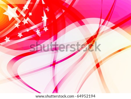 beautiful abstract meteoric shower background. Vector illustration