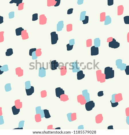 Beautiful abstract seamless pattern. Handcrafted artistic style. Perfect for textile, wrapping, web and all kind of decorative projects. Vector illustration.