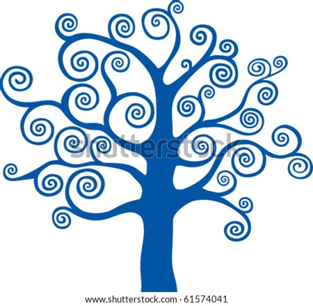 beautiful abstract vector winter tree design