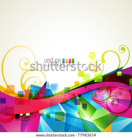 Beautiful abstract wave shape background design stock vector