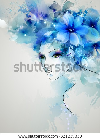 beautiful abstract women with