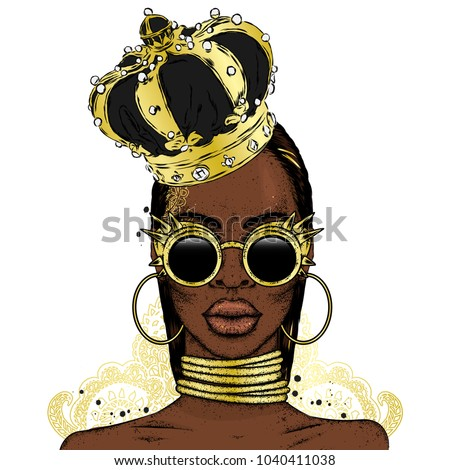 beautiful african girl in the
