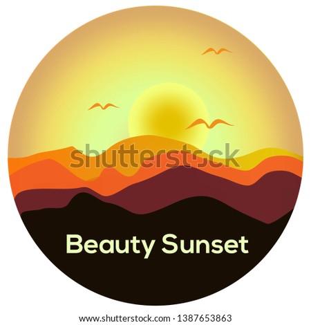 beautiful and amazing sunset on