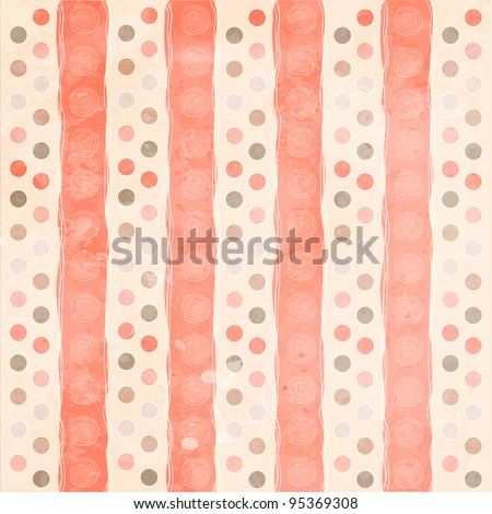Beautiful and vintage seamless background - stock vector
