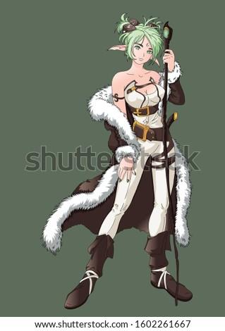 beautiful anime elf girl