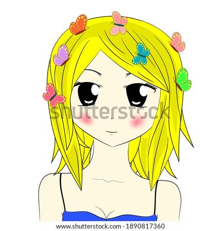 beautiful anime girl with