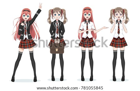 anime girl vector download free vector art stock graphics images