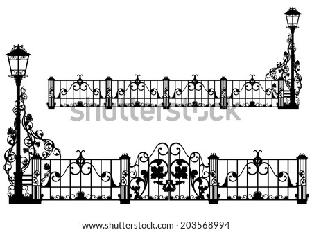 beautiful antique iron fence