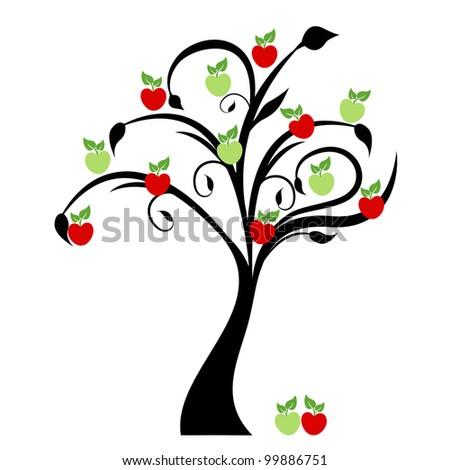 beautiful apple tree isolated