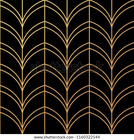 Beautiful Art Deco pattern vector
