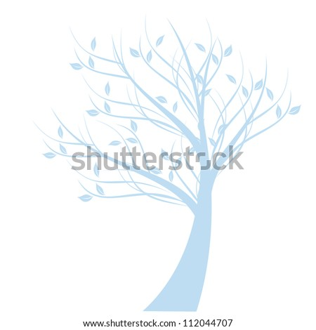 beautiful art tree isolated on