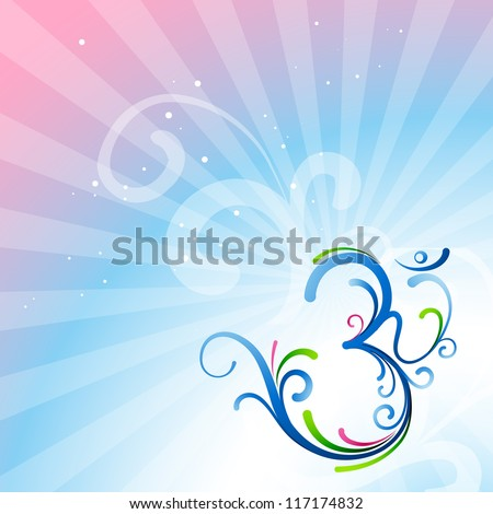 beautiful artistic vector om symbol design