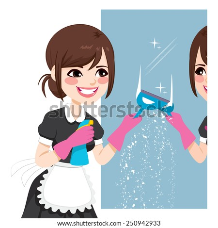 beautiful asian woman in maid