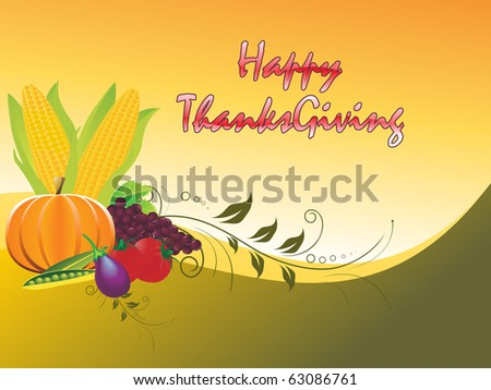 beautiful autumn background for happy thanksgiving day #63086761