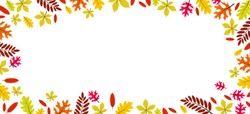 Beautiful autumn leaves frame with copy space vector