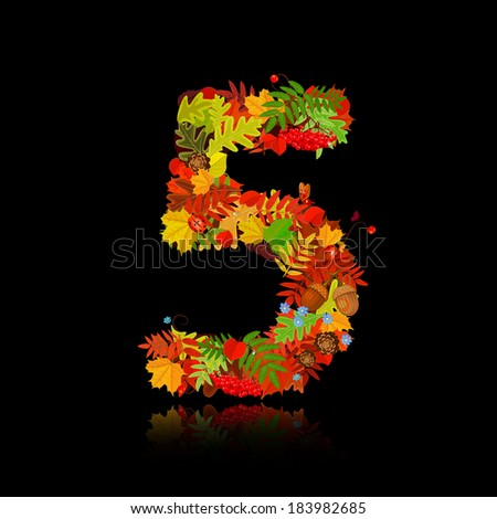 beautiful autumn leaves number