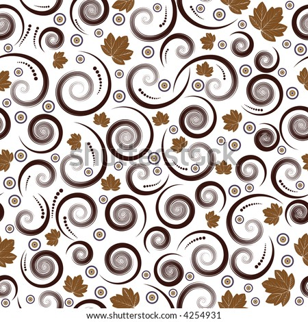 beautiful autumn seamless vector floral design