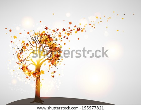 beautiful autumn tree and