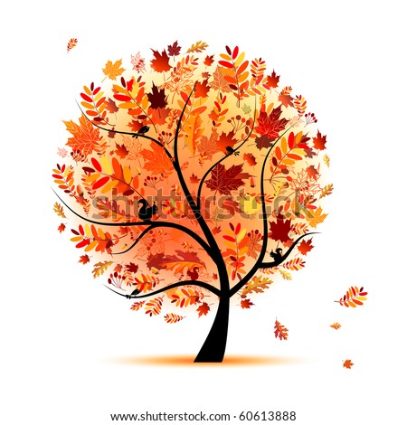 Stock Photo Beautiful autumn tree for your design