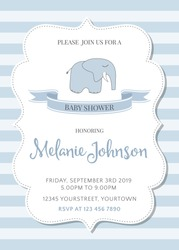 beautiful baby shower template, vector illustration