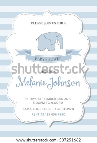 beautiful baby shower template