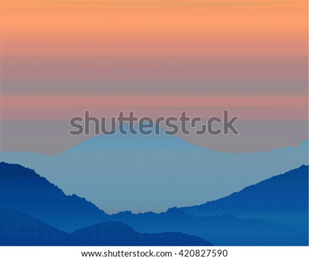 beautiful background dawn in