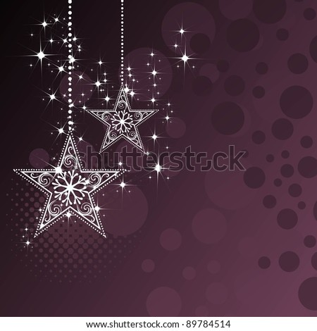 Beautiful Background for Christmas and new year with stars, halftone, circle