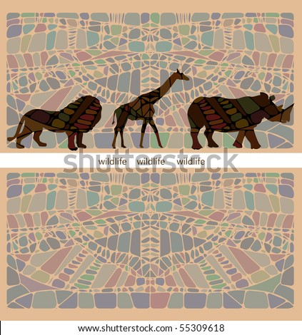 beautiful background of the various components conveys all the beauty and wildness of Africa