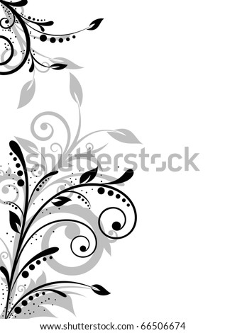 Beautiful background with floral elements and free space for text