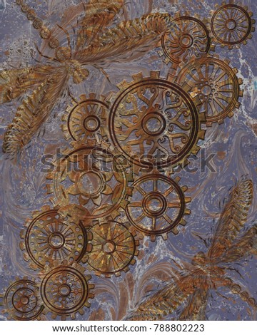 beautiful background with gears