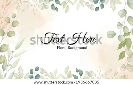 Beautiful background with leaf decoration