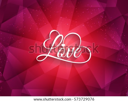 beautiful background with love
