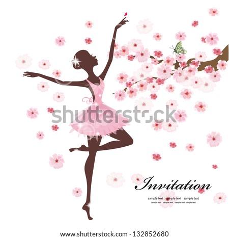 beautiful ballerina in the