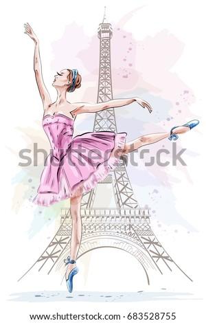 beautiful ballerina posing and