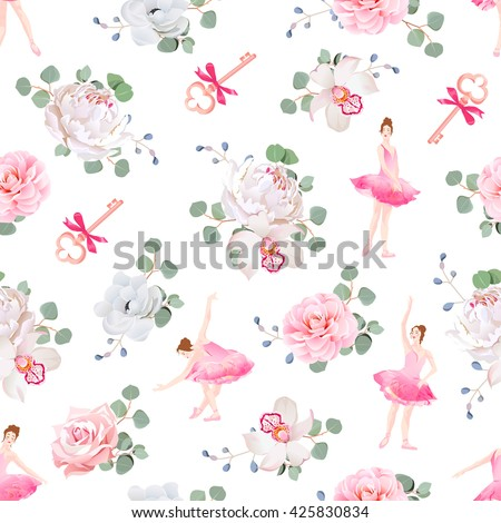 beautiful ballerinas dance