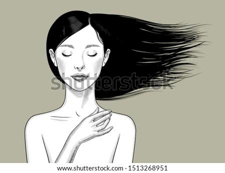 beautiful bare shouldered girl