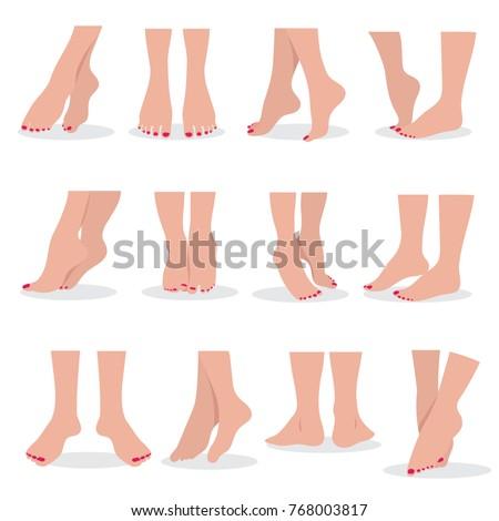 beautiful bare woman feet and